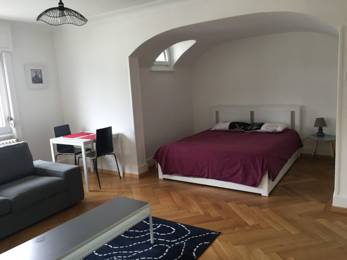 Bright and charming studio close to Lausanne city centre and train station